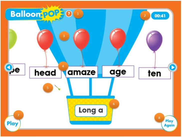 play the balloon pop game