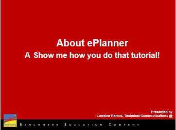 About ePlanner